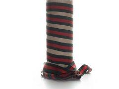 Ripsband - dunkelgrün - rot