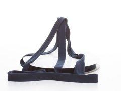 Schrägband - Baumwolljersey - marine blau