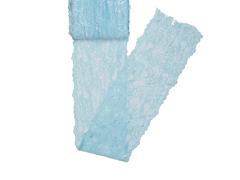 Spitze elastisch - 150mm breit - hellblau