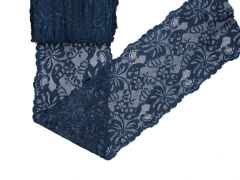 Spitze elastisch - 150mm breit - dunkelblau