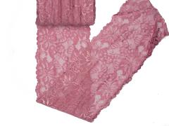 Spitze elastisch - 150mm breit - himbeere