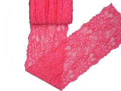 Spitze elastisch - 150mm breit - neon coral
