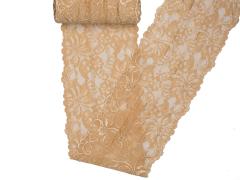 Spitze elastisch - 150mm breit - champagner