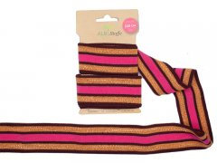 Zierband - Stripe Me Glam - Glow - Albstoffe - pink - orange - bordeaux