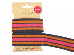 Zierband - Stripe Me - Albstoffe - pink - orange - dunkelblau