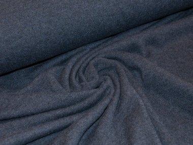 Reststück 0,55m - Merino SOFT - Strick - dunkelblau meliert