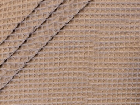 Baumwoll Waffelpiqué - sand
