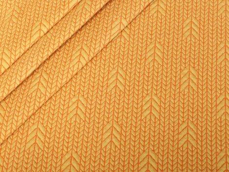 BIO Jacquard - Plain Stitches  - Up Knit - Hamburger Liebe - Albstoffe - senf