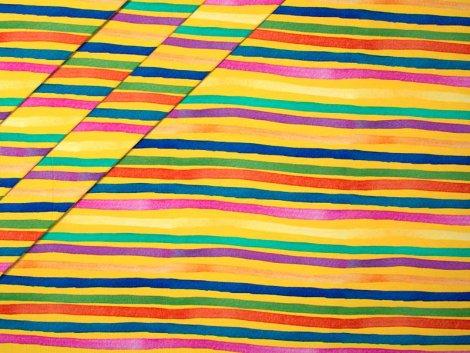 Jersey Single - Streifen - gelb - pink - bunt - Stenzo