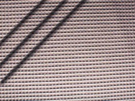 Baumwoll Waffelpiqué - grau