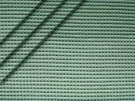Baumwoll Waffelpiqué - mint-grau