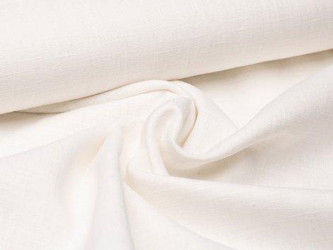 Leinen - glatt - weiß