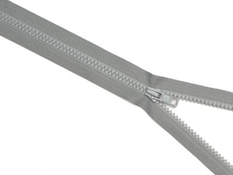 Reißverschluss YKK - grau - 25-80cm - teilbar