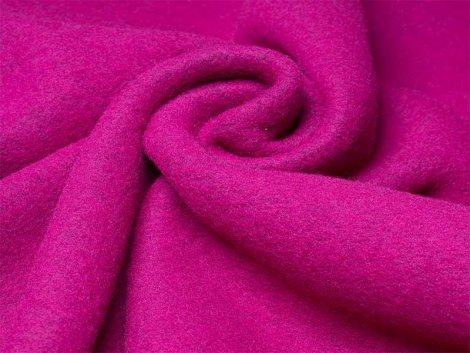 Merino Fleece - Bobby - meliert - pink