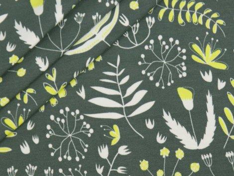 BIO Jersey Single - Botanica - dunkelgrau - EXKLUSIV DESIGN