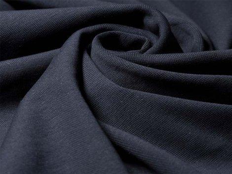 Reststück 0,20m BIO Feinripp Jersey - Kim - schwarz