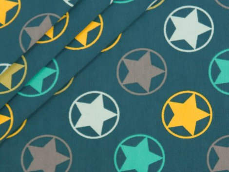 BIO Jersey Single - Stars - Rainbow Boys  - petrol - EXKLUSIV DESIGN