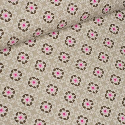 Feincord - Blumen - Stenzo - beige