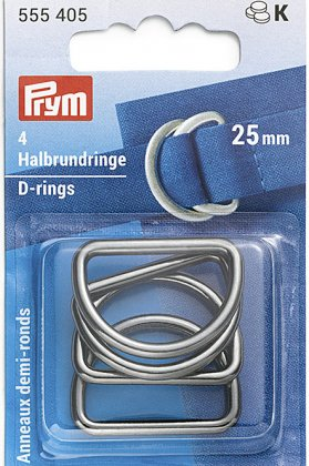 Halbrundringe - D-Ringe - 25/30/40mm - gunmetal - Prym