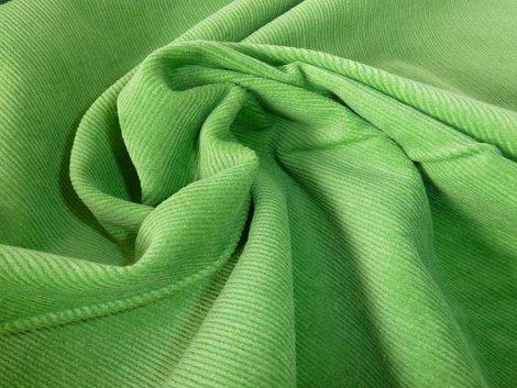Feincord - Stretch - einfarbig - hellgrün