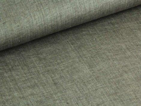 Reststück 0,90m - Jeansleinen - braun - grau