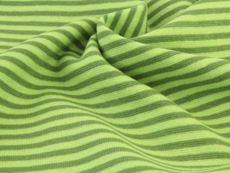 Bündchen Feinripp - Ringel - hellgrün - grün