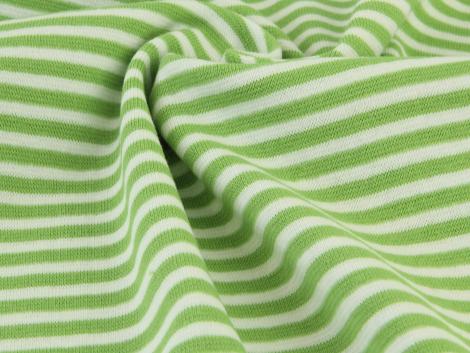 Reststück 0,65m - Bündchen Feinripp - Ringel - grün - weiß