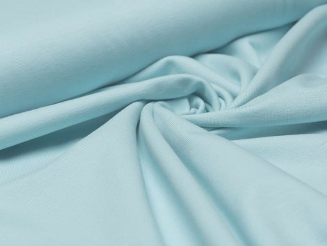 Reststück 1,30m - BIO Jersey Single - Fenja - hellblau