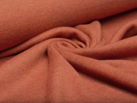 Merino Jersey Strick - orange - Reststück 0,55m
