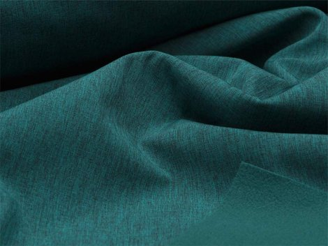 Reststück 0,90m - Softshell - meliert - dunkelgrün - schwarz
