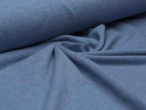Sweat - blau - meliert - French Terry - ungeraut