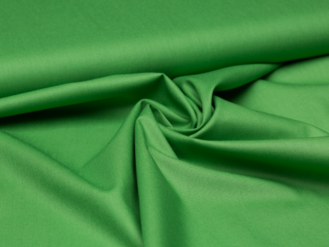 Baumwolle - uni - grün