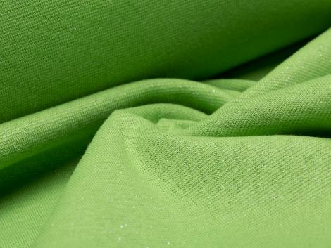 Bündchen Feinripp - Glitzer - grün