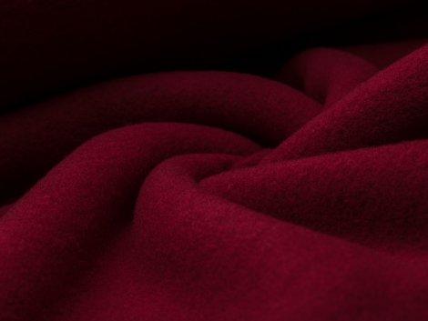Reststück 0,6m - Merino Fleece - Bobby - dunkelrot