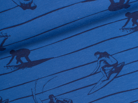 Jersey Single - Wellenreiter - Kinderträume - blau
