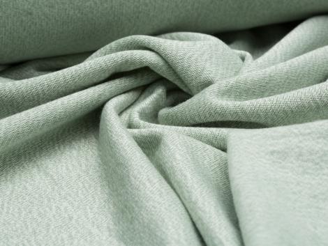 Strick Viskose - Knit - mint - weiß - angeraut