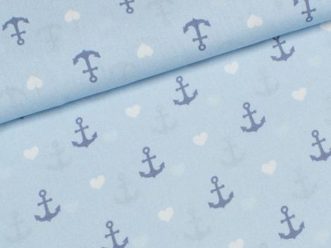 Viskose - Nautic Love - lycklig Design - Hilco - blau