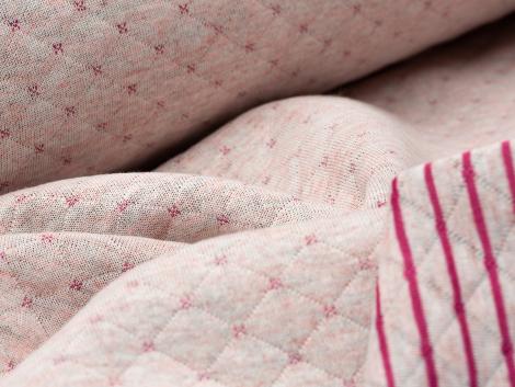 Sweat - Stepp - Punkte - Streifen - rosa - pink