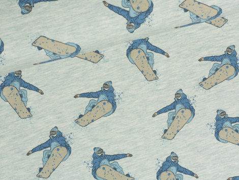 Sweat - Snowboard - Stenzo - hellgrün meliert