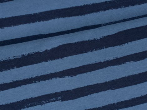 Sweat - Blockstreifen - blau - dunkelblau