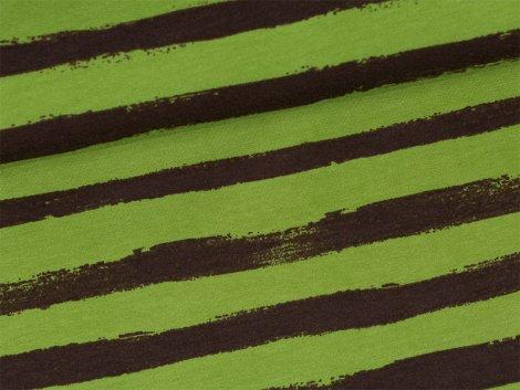 Sweat - Blockstreifen - grün - braun