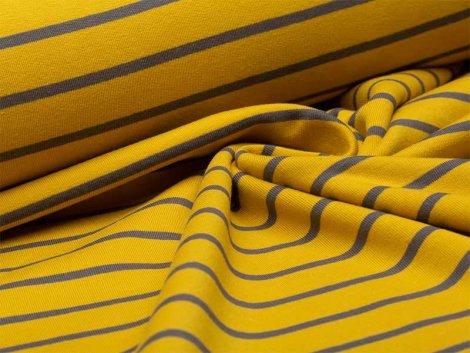 Sweat - Streifen -  gelb - grau