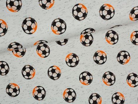 Reststück 0,85m - Jersey Single - Football fun - Fußball - hellgrau