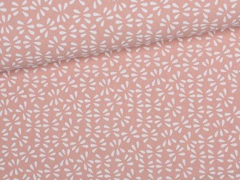 Baumwolle Crepe - Blätter - Tillisy - altrosa
