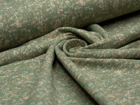 Jersey Single - Marmor - grün - beige