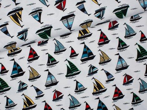 Jersey Single - Boote - Stenzo - weiß