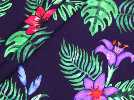 BIO Jersey Single - Tropical Nights - EXKLUSIV DESIGN - dark navy