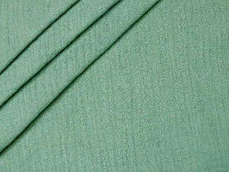 Musselin - Double Gauze - uni - grün