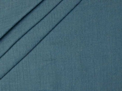Musselin - Double Gauze - uni - blau
