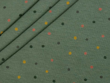 Jersey Single - Punkte - Dots - grün